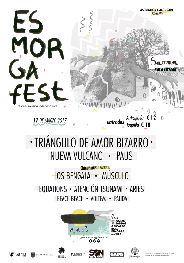 Cartel definitivo do Esmorga Fest!